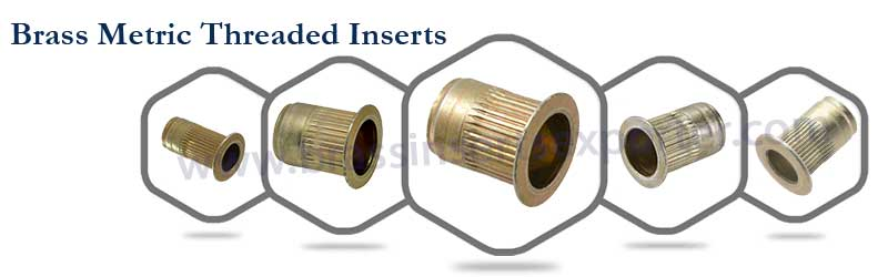 Brass Metric Threaded Inserts | Brass Inserts Manufacturer