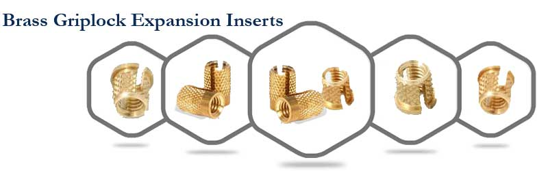 Brass Griplock Expansion Inserts