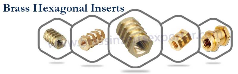 Brass Hexagonal Inserts